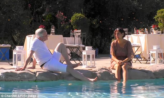 The pair lounged by the pool and hit it off as they talked about Mark living on a boat which Esther was thrilled with