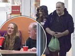 Thomas Markle was all smiles as he enjoyed a dinner date with a mystery blonde - just weeks before his daughter is due to marry Prince Harry in Windsor
