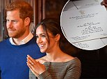 The invitations to the wedding of Prince Harry and Ms. Meghan Markle have been issued in the name of His Royal Highness The Prince of Wales