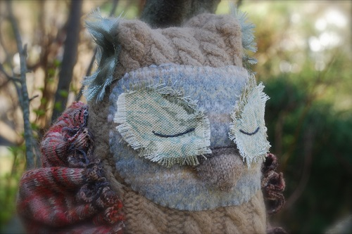 mossy felted sweater owl tutorial