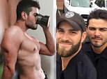 Officer Daniel Rengering (right) along with Officer John Nordman (left) and Officer Michael Hamill (middle) shot to fame last year after their selfie during Hurricane Irma was posted on Facebook. Officer Hamillresigned in December from the police department after he was discovered to have written anti-Semitic comments on social media