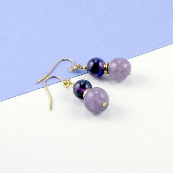 Sugar Plums Purple Fluorite Earrings