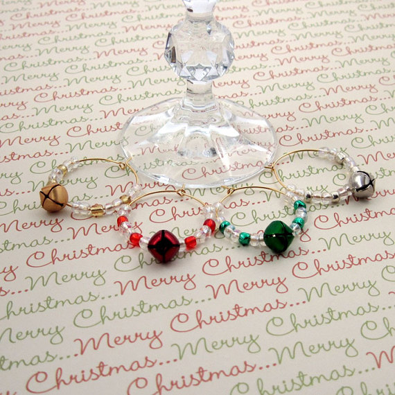 Jingle All the Way Wine and Beverage Charms Set of 4