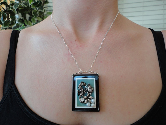 silver charm pendant .gemstone pendant. blue amazonite pendant. intarsia stone pendant. gemstone jewelry