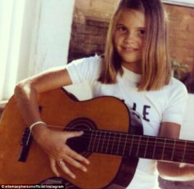 'Flashback Christmas Day 1974': Elle Macpherson, 53, reminded fans of her modest upbringing by uploading a sweet throwback snap of 10-year-old self to Instagram this Friday