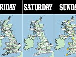 Britain is set for more bad weather with heavy rain and snow expected to arrive in time for the Easter holidays. Downpours are expected to batter the UK with up to 40mm of rain due to fall over parts of the North, followed by more snow with bitterly cold northerly winds sending temperatures plummeting to -4C