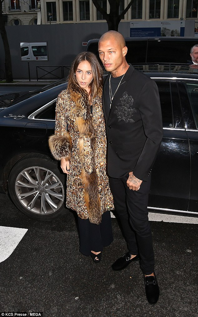 Topshop heiress Chloe Green, 26, and her 'hot felon' beau Jeremy Meeks, 33, continue to prove they're more in love than ever as they attended the Ralph & Russo show in the French capital on Monday