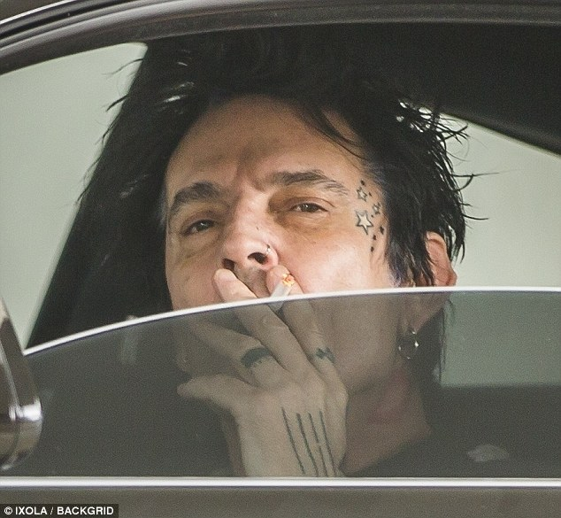 Recovering: On Friday Tommy Lee, 50, was finally spotted out and about again with his girlfriend