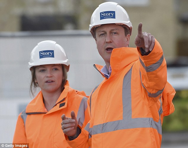 David Cameron - pictured during a campaign visit to a home building scheme  in Lancaster today - is desperate to stop Ukip's Nigel Farage getting into Parliament