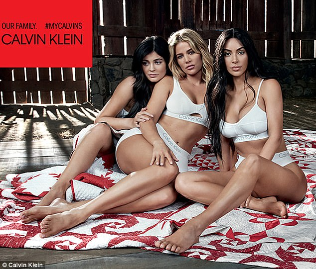 Early days! It's believed the campaign was shot quite some time ago, as Khloe, who revealed she was five months pregnant back in December, isn't showing yet. Kylie used her big sister as a shield in this frame