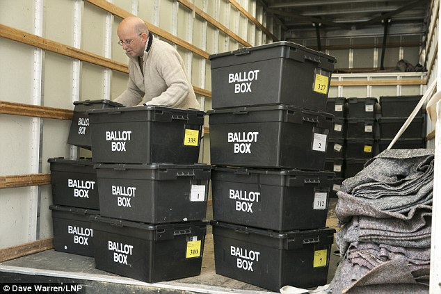 Election ballot boxes began being delivered across the country today (including to Sheldon Community Centre, near Birmingham above) ahead of tomorrow's knife-edge election