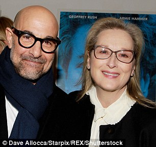 Tucci welcomed his The Devil Wears Prada co-star Meryl Streep to the premiere
