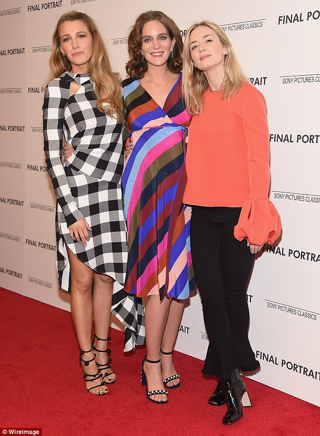 Style queens: The trio made quite a colorful statement as they posed together for photos