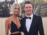 Caitlin Paris (left), the glamorous girlfriend of Australian cricketer Cameron Bancroft (right), is being targeted by vile trolls over her boyfriend's role in the ongoing ball-tampering scandal