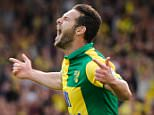 Matt Jarvis celebrates his goal during the Barclays Premier League match between Norwich City and AFC Bournemouth played at Carrow Road, Norwich