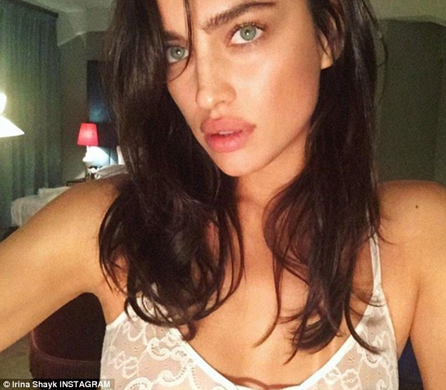Sexy selfie:the model posted a sexy photo to Instagram from the warm confines of her home on Thursday