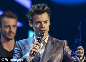 Solo success: Harry Styles picked up his first solo Brit for British Video of the Year