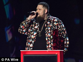 Sensation: Rag'n'Bone Man won Best British Single