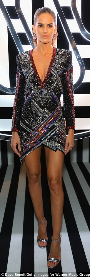 Babes: Models Adwoa Aboah, 25, and Izabel Goulart, 33, attended the Warner Music BRIT Awards after-party at Freemasons Hall, London on Wednesday night