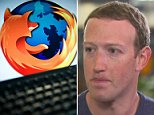 Software company Mozilla Corp said Wednesday that it is suspending their ads on Facebook. The company's logo pictured above