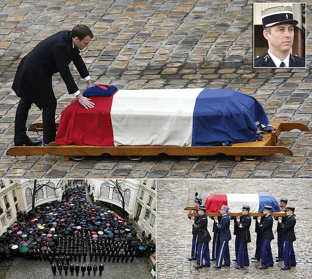 France unites in mourning for officer killed by ISIS terrorist