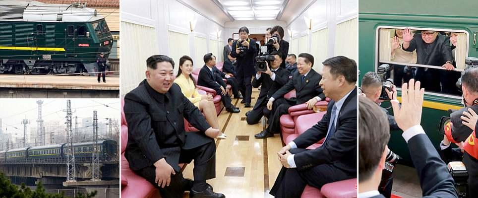 Inside Kim Jong-un's secret North Korean train where he met Chinese
