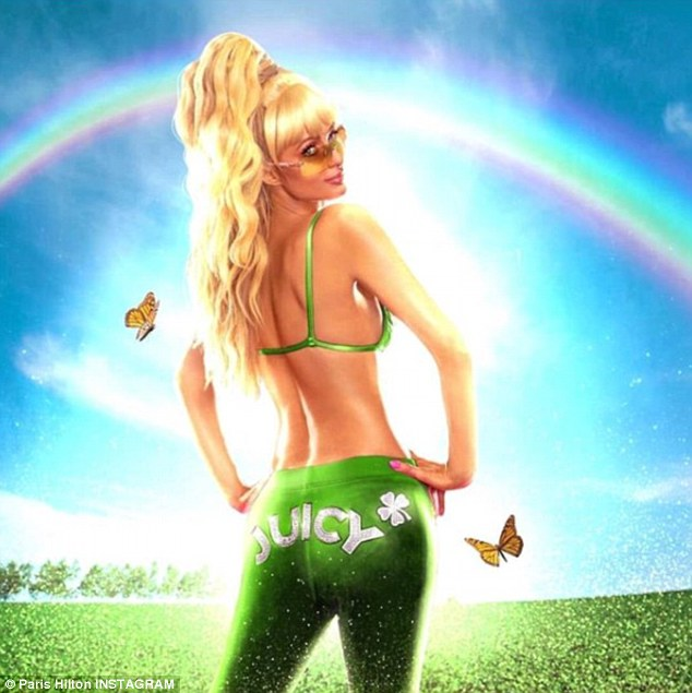 We're green with envy:Paris Hilton has a way of turning every holiday into an opportunity to flaunt her incredible figure. And St Patrick's Day was no exception