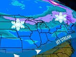 A winter chill is heading from the Rocky Mountains into the Northeast this weekend