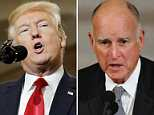 Trump attacked California Governor Jerry Brown for pardoning five immigrants before the holiday weekend. Brown pardoned a total of 54 people