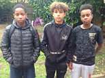 From left to right: Shawn Young, who was 12 at the time, DevonteCafferkey, 13, and Sammy Farah, 14, stopped a suicidal man who was about to jump off of a bridge