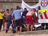 NSW Police say the man became 'distressed in the water' at Manly's South Steyne Beach (pictured) at 2.30pm on Easter Saturday and was taken ashore, where attempts were made to revive him.
