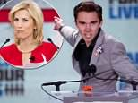 School shooting survivor David Hogg (left) hit out again Friday night at Fox News hostLaura Ingraham (right) over comments she made about which colleges had rejected him