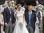 CHARGED: David Matthews, right, with daughter-in-law Pippa Middleton at her wedding to James Matthews, left, last year