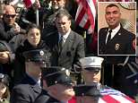 FDNY and Air Force master sergeant Christopher Raguso, 39, was laid to rest on Saturday in New York following a helicopter crash in Iraq on March 15