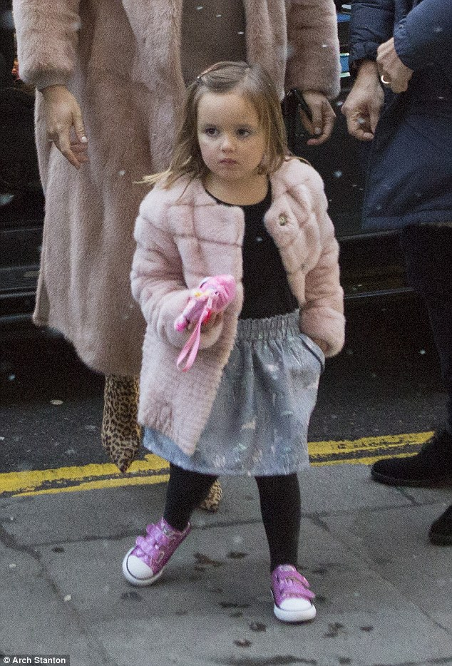 Apple of her eye: Sophia's mum Tamara is worth an estimated £232million so it's no wonder that she got treated for the finest cuisine for her big day