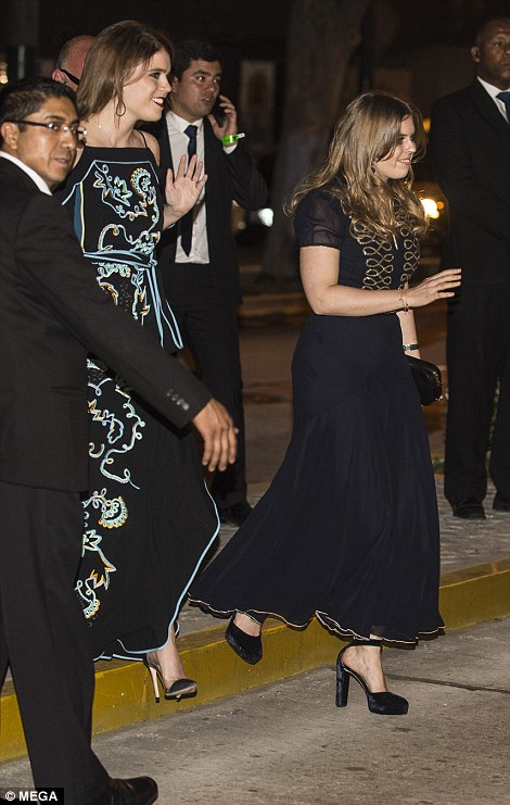 Both sisters looked in high spirits as they arrived at the event