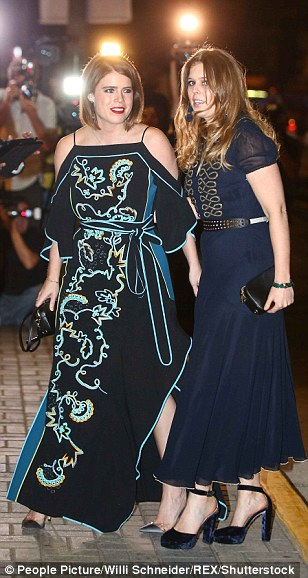 Both sisters looked glamorous as they arrived at th event