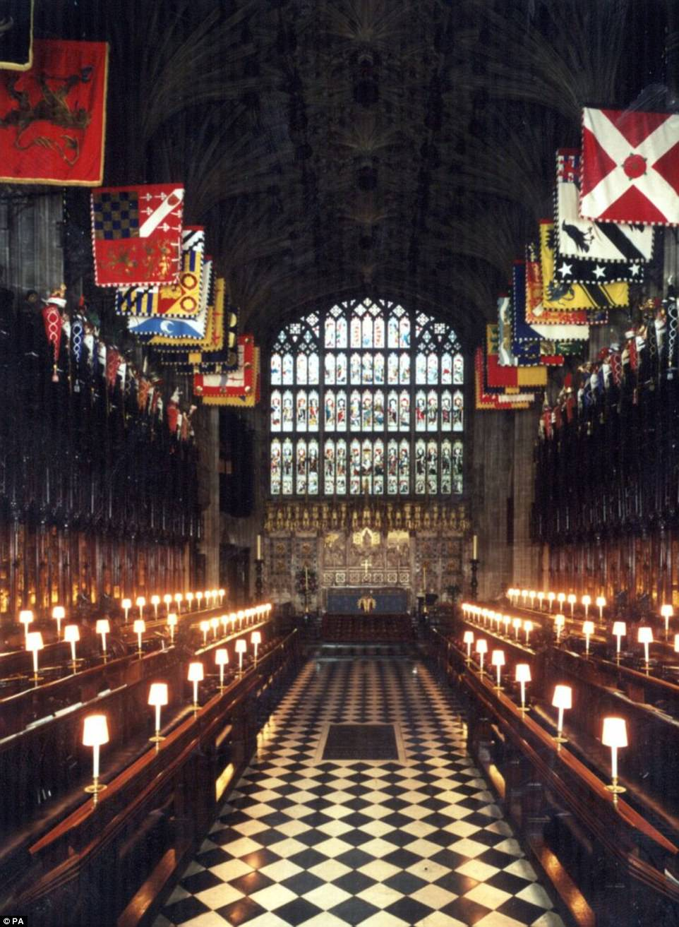 The interior of St George's Chapel, Windsor Castle which has been chosen as the venue for the weddings of Prince Harry and Meghan Markle, as well as Princess Eugenie and Jack Brooksbank