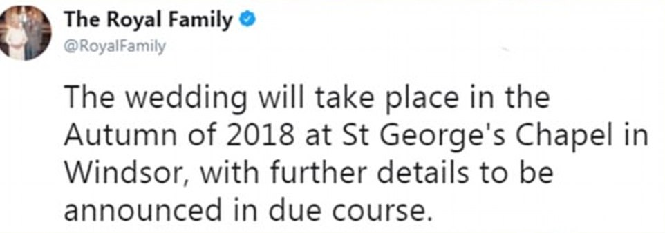 Buckingham Palace announced the happy news on Twitter this morning