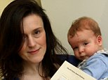 Aileen Robertson, pictured with now seven-month-old Isaac, who claims she was told breastfeeding was not a reason for her to avoid jury duty