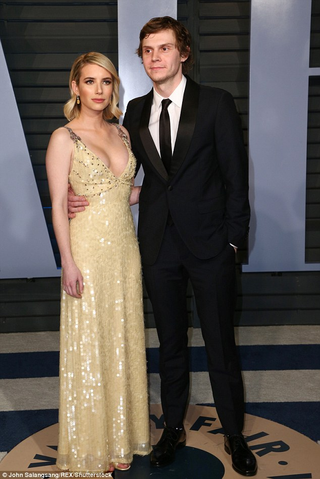 It's love:The 27-year-old New York native has been engaged off and on to actor Evan Peters since 2013. Seen in early March