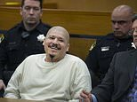 Luis Bracamontes smiles as the verdict is read that he will receive the death penalty in the murders of Sacramento Sheriff's Deputy Danny Oliver and Placer County Det. Michael Davis Jr., Tuesday, March 27, 2018, in Sacramento, Calif. (Randy Pench/The Sacramento Bee via AP)