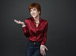 """In this March 22, 2018 photo, comedian Kathy Griffin poses for a portrait in Los Angeles to promote her upcoming """"The Laugh Your Head Off World Tour.  (Photo by Chris Pizzello/Invision/AP)"""