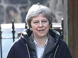 Theresa May (pictured in North Wales yesterday) could be forced to abandon her 100,000 a year immigration target by top ministers who back concessions to get a better trade deal with the EU
