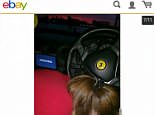 EBay users were shocked to discover this photo appearing to show a woman performing a sex act hidden in a listing for aused Ferrari 360 Modena Giallo