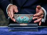 A Qing Dynasty bowl made for the Chinese emperorKangxi, who ruled the country between 1661 and 1722, sold for $30.4million when it was auctioned in Hong Kong on Tuesday