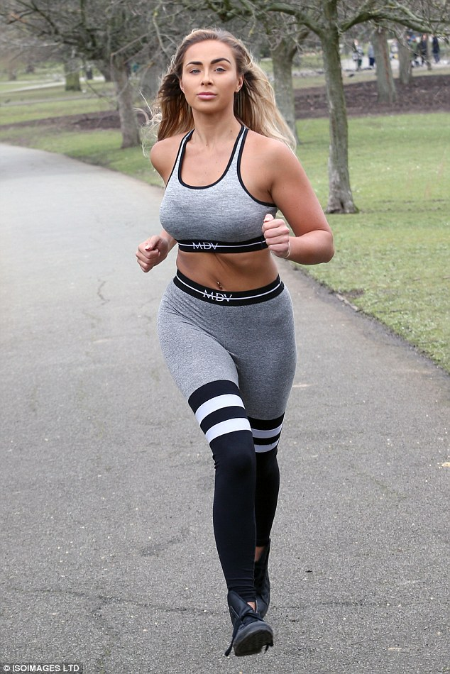 Working up a sweat:Georgia Cole has proven to sustain her impressive endurance levels during an exhausting gym session in a London park earlier this week