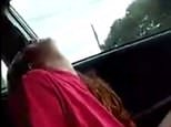A horrifying video has emerged showing a mother presumably from North America struggle to stay awake and attempt to drive her car while appearing to be under the influence of drugs while two young girls are in the vehicle