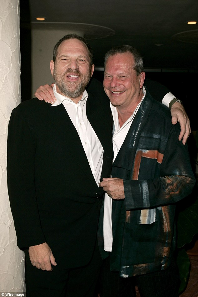 Gilliam lashed out at the #MeToo movement, claiming some actresses' 'did very well out of meeting with Harvey Weinstein' (pictured together in 2005)