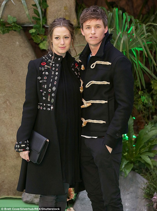 Happy couple: Eddie married PR executive Hannah, also from London, at Babington House in December 2014 after a two-year romance
